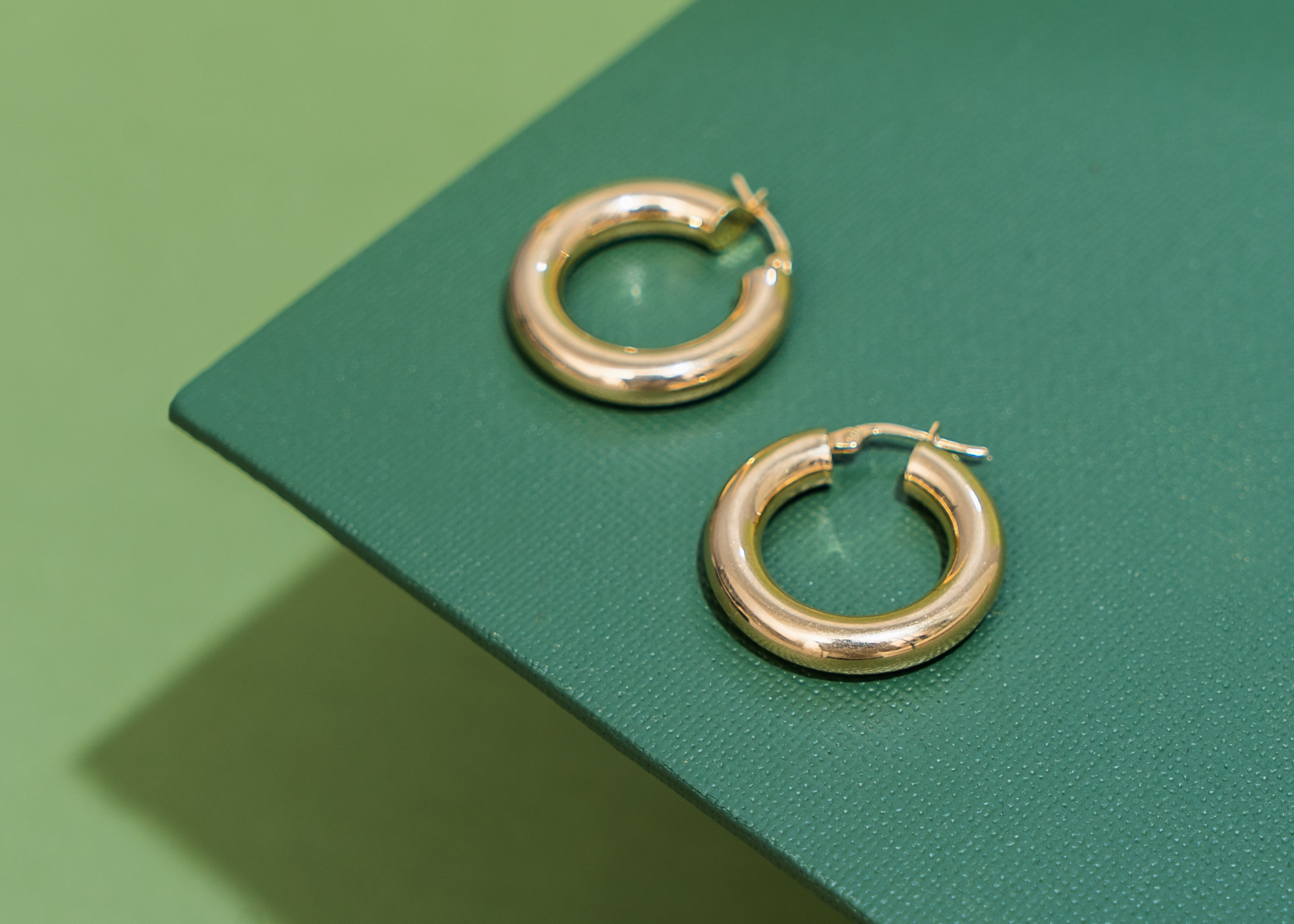 9ct Gold Heavyweight Hoops Large