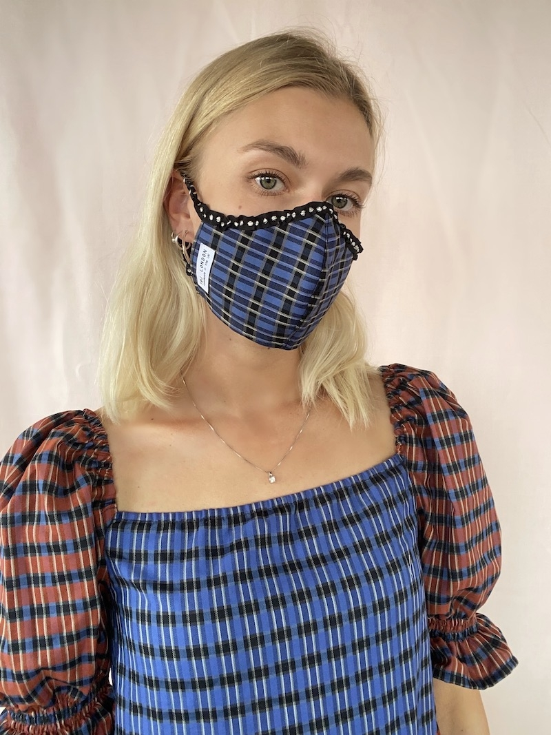 BLUE CHECK FACE MASK