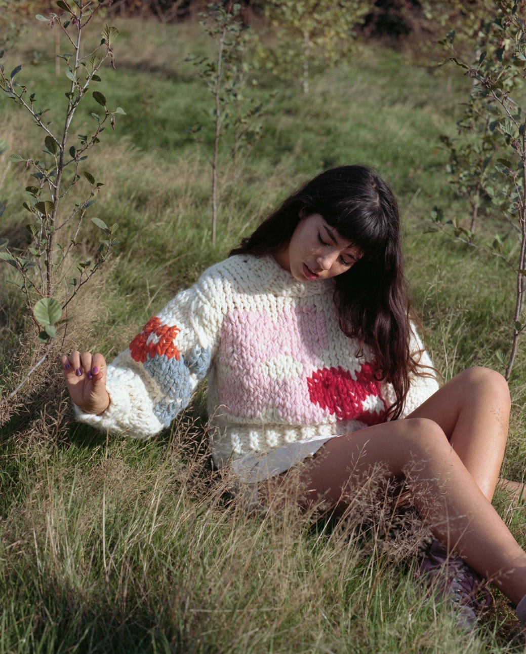 Blossom hand knitted floral jumper