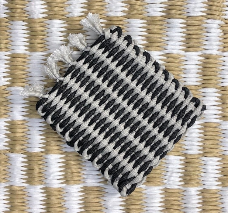 Charcoal Handwoven Cord Wallet