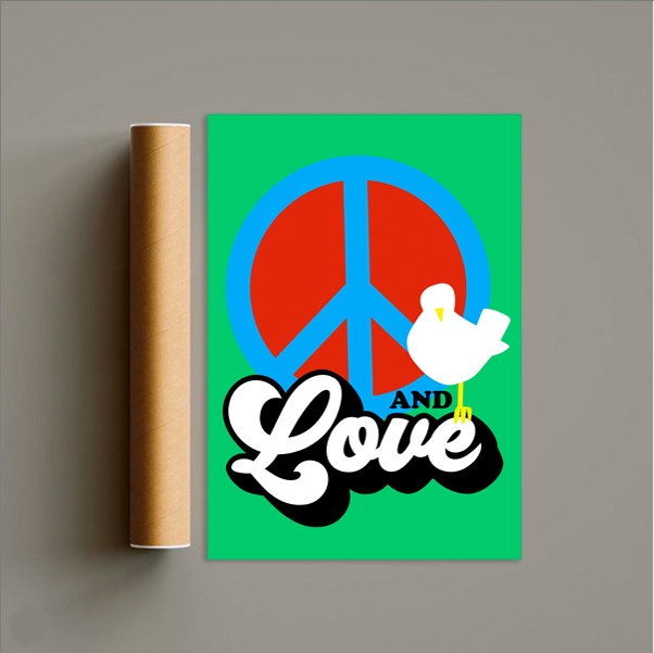 Peace and Love Print