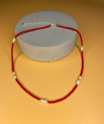 FIERY RED NECKLACE