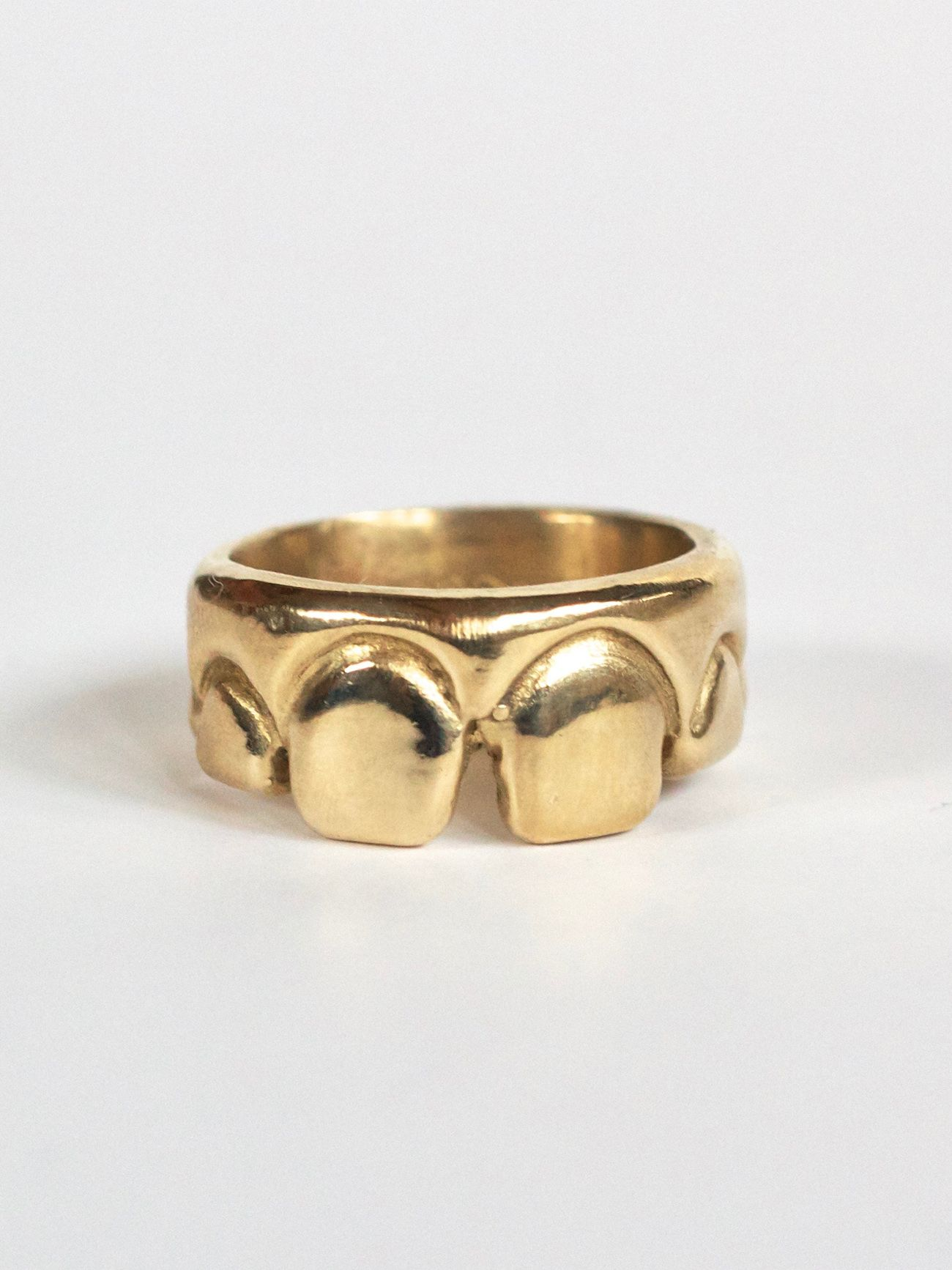 Teethmarks Solid Brass Ring