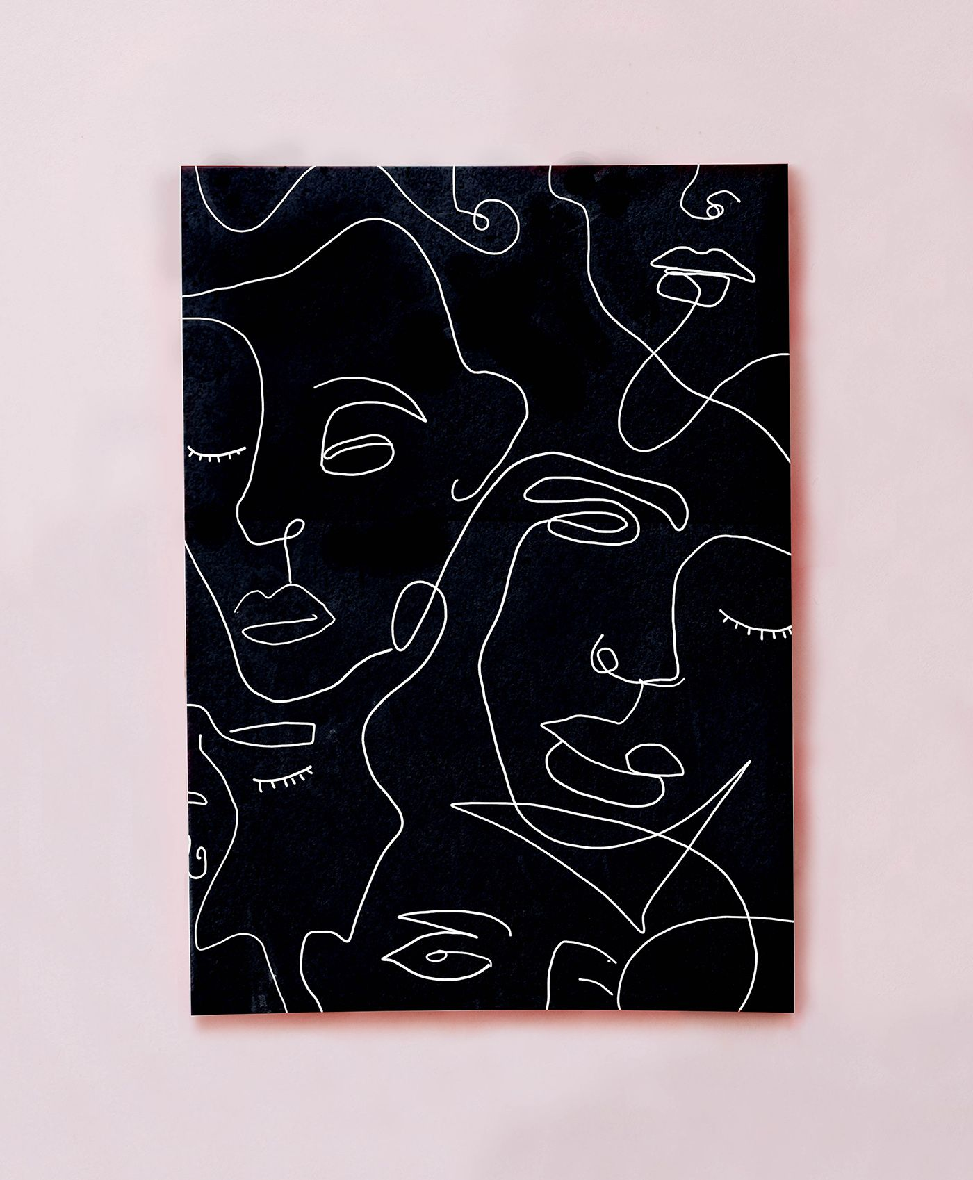 Squiggly Faces Print