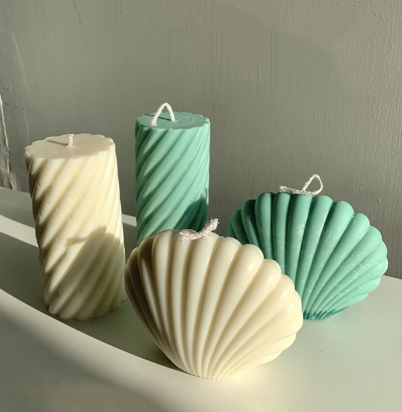 Clam Shell Candle | Pastel Green