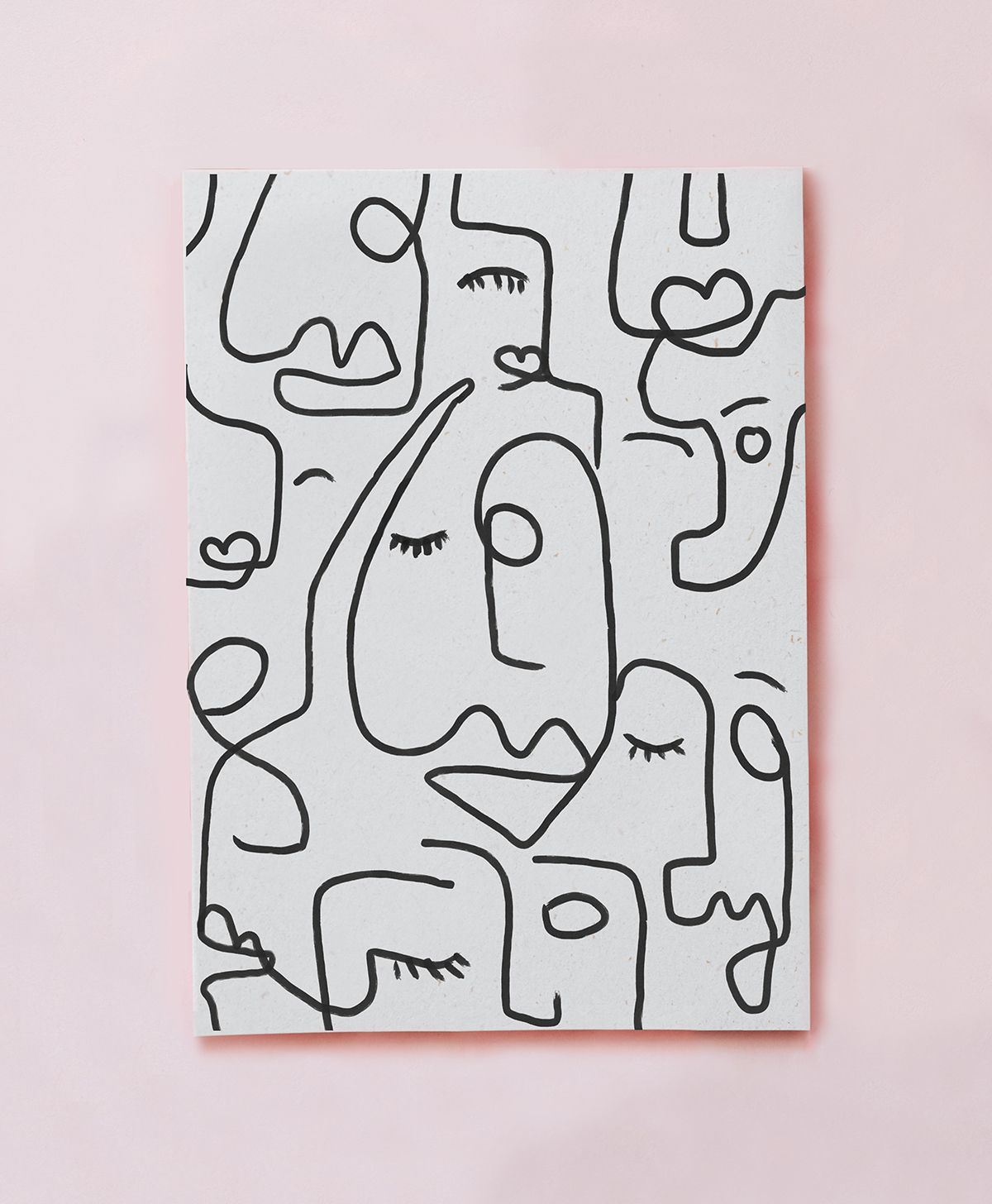Abstract Faces Print