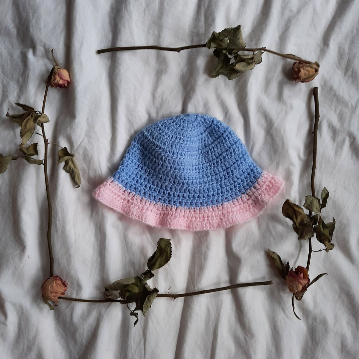 Blue and Pink Bucket Hat