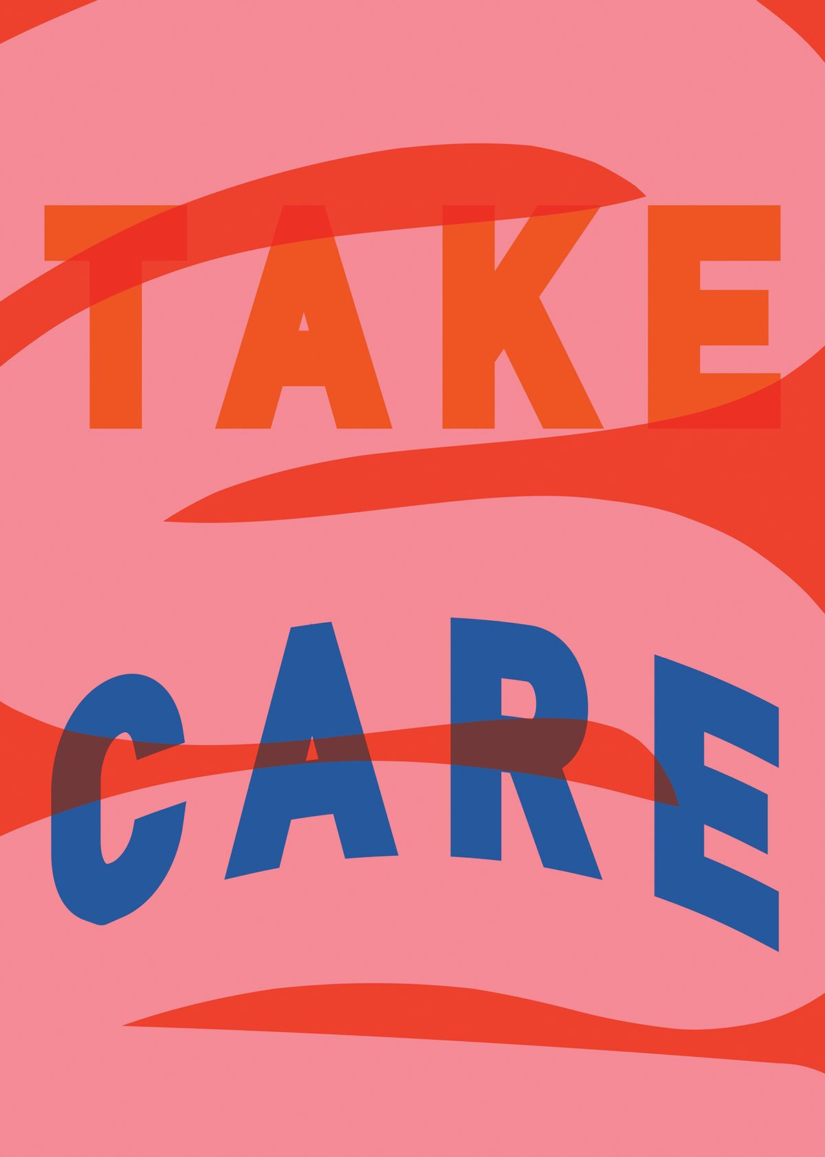 TAKE CARE A4 Print - Recycled Paper