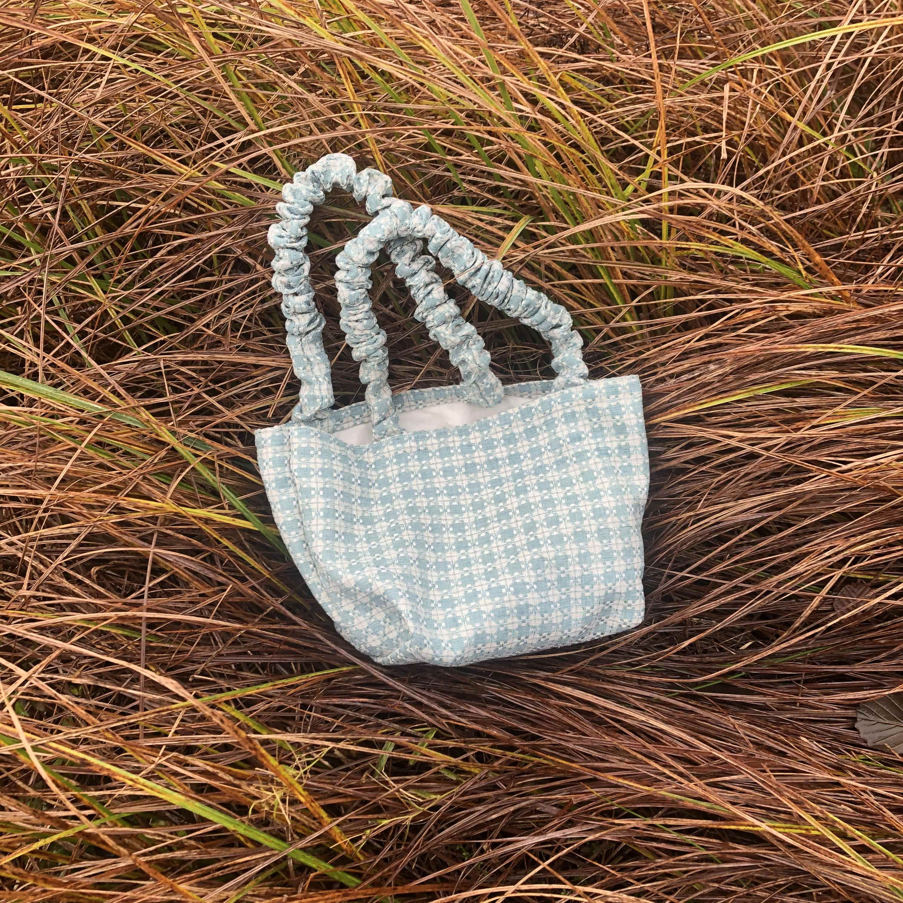 Forget-Me-Not Tweed Bianca Bag with Short Handles
