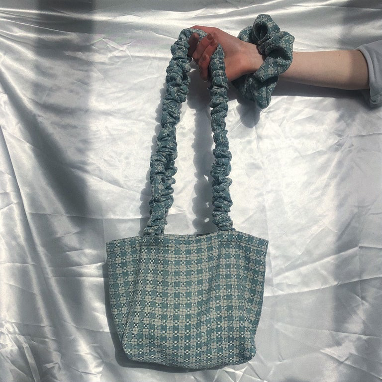 Forget-Me-Not Tweed Bianca Bag with Long Handles