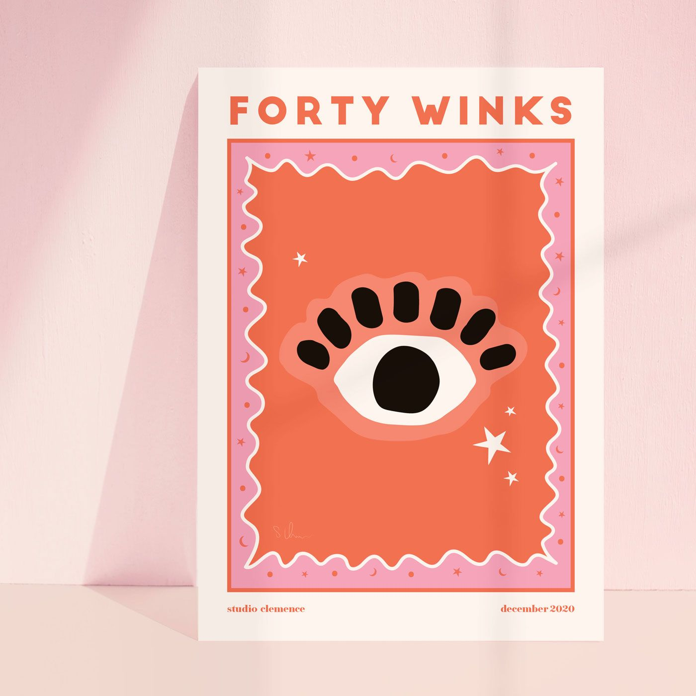 Forty Winks | Red and Pink