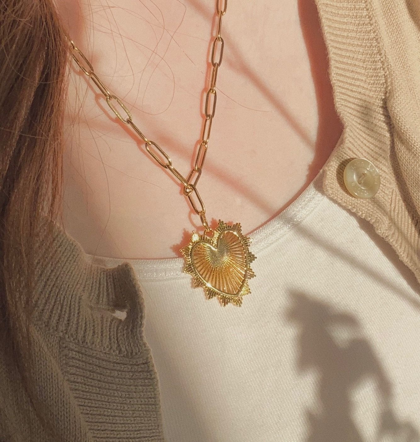 Chunky Heart Necklace