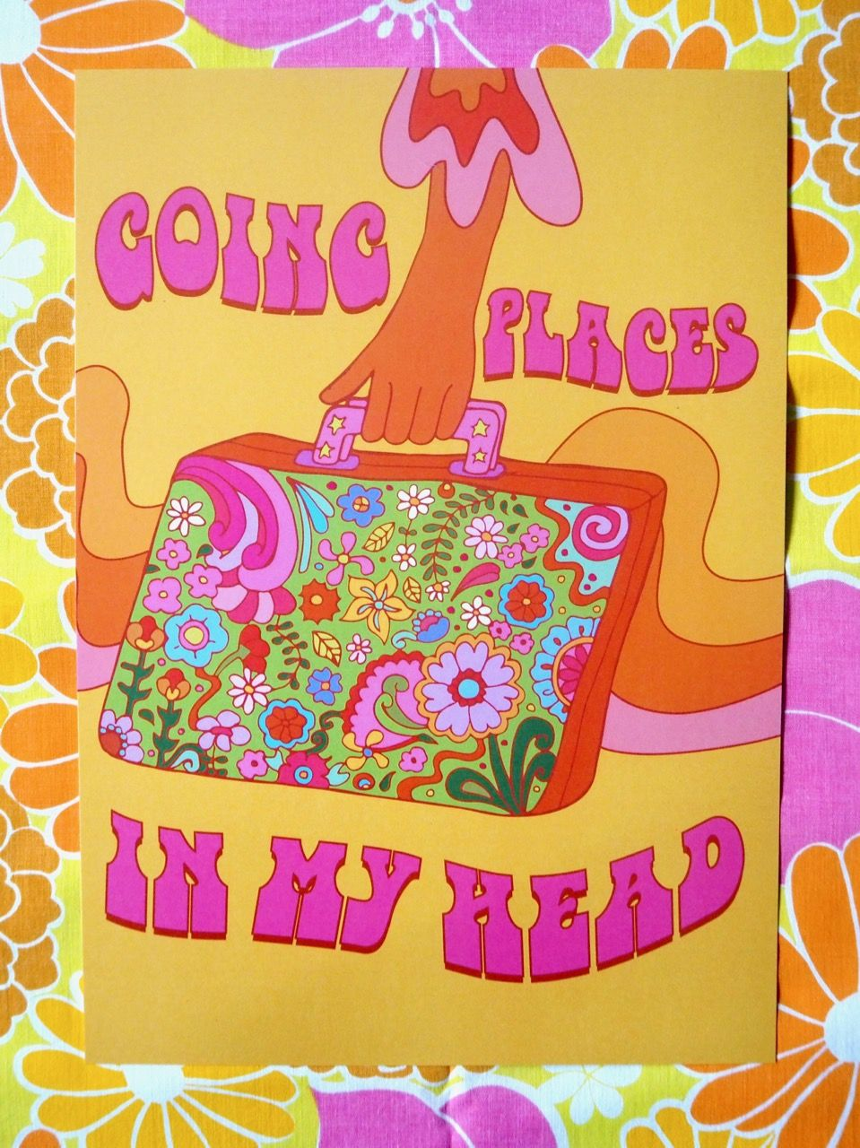 Going Places in My Head Print