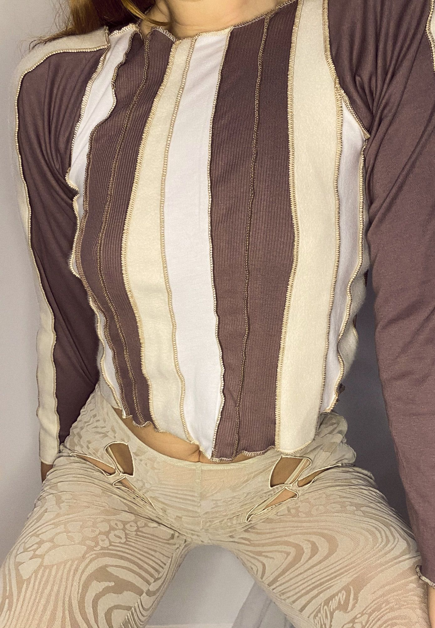 BROWN FRENCH TERRY LONGSLEEVE