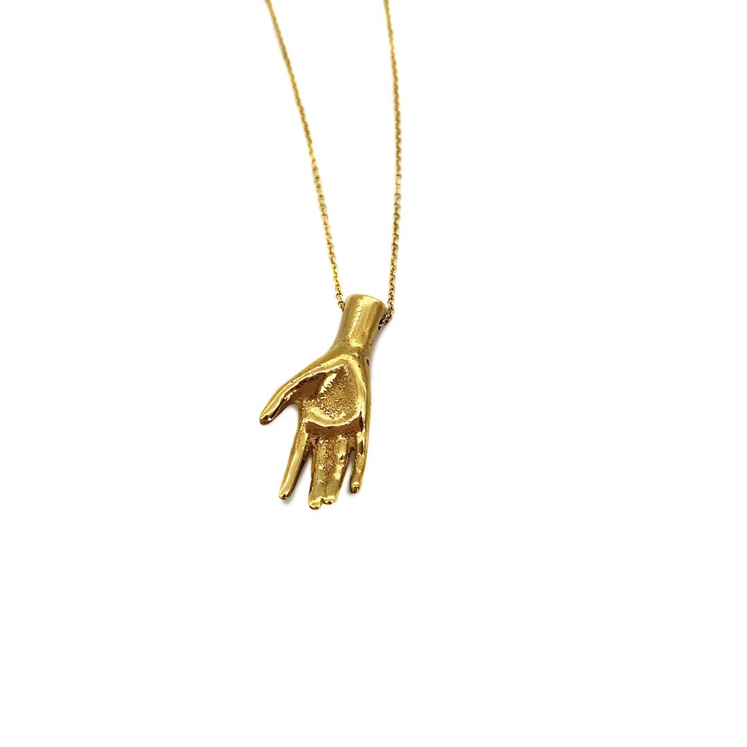 Gold Plated Hand Necklace