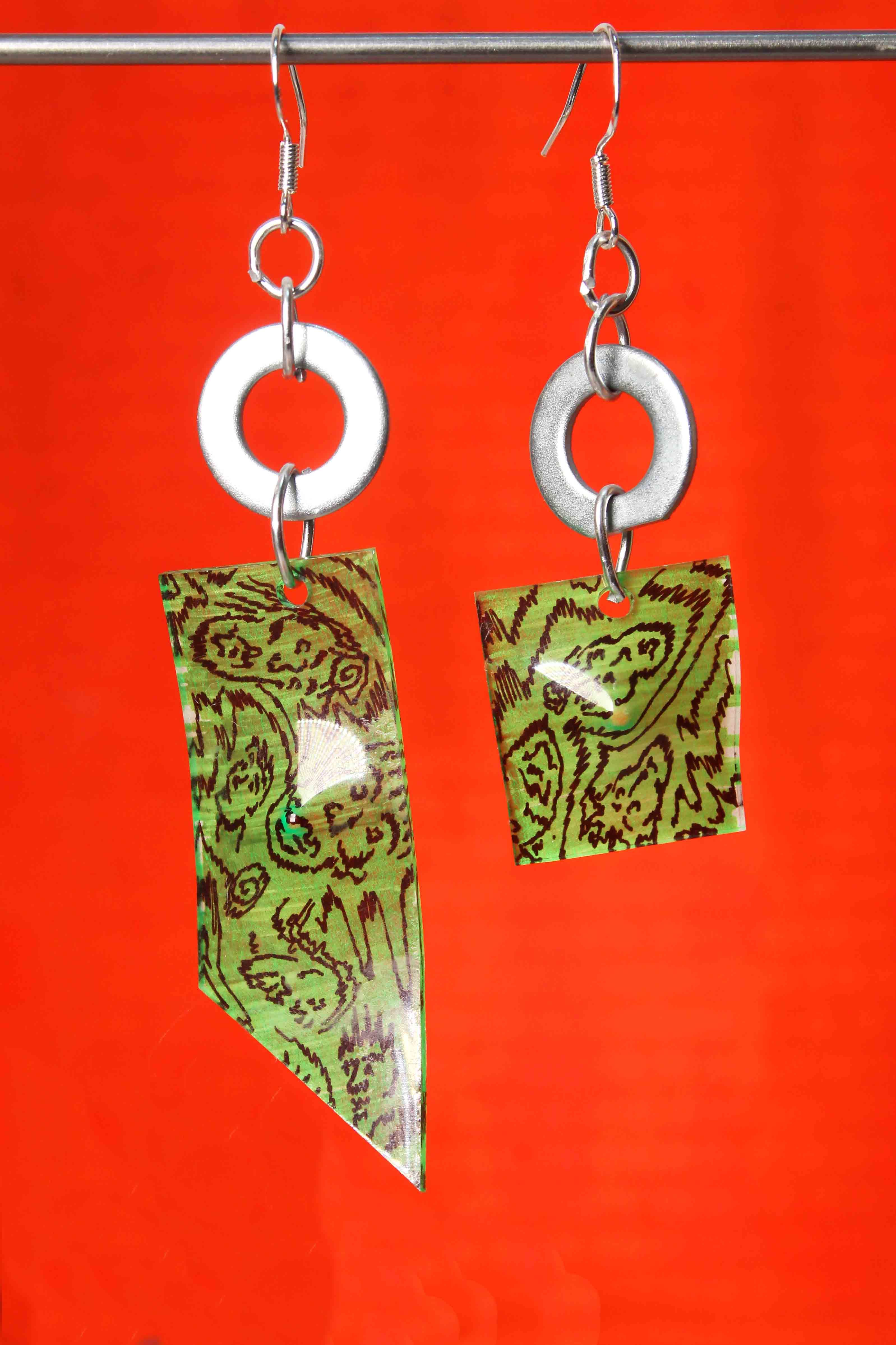 Made to Order - Green Itty Bitty Earrings