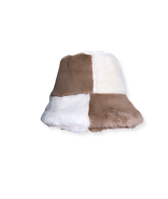 Taupe / Oat Fluffy Bucket Hat