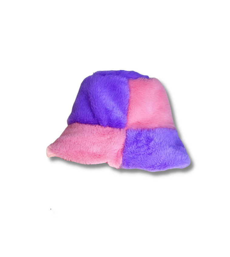 Lilac / Pink Fluffy Bucket Hat