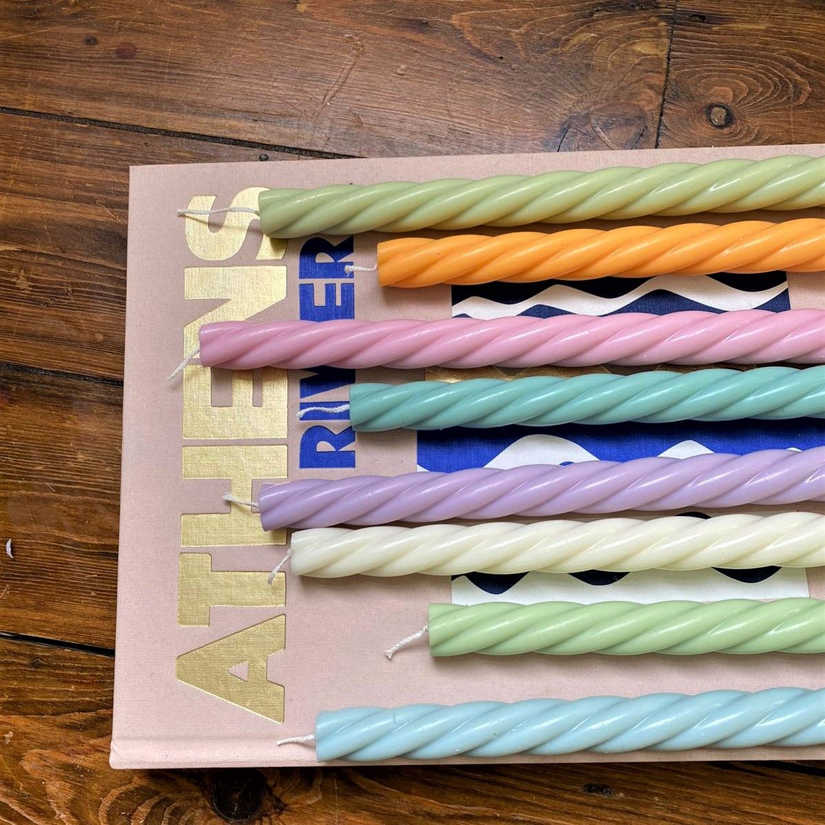 Tokyo Spiral Taper Candles - 2 Taper Candles in one pack