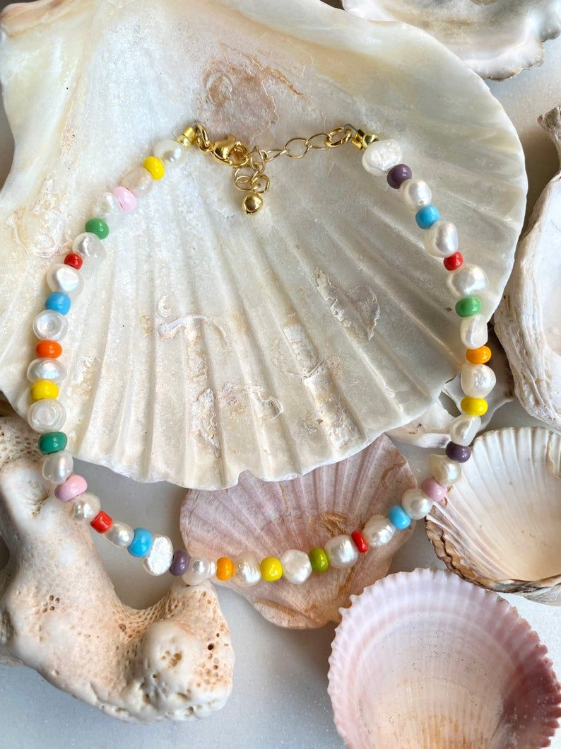 Freshwater Pearl and Beads Anklet