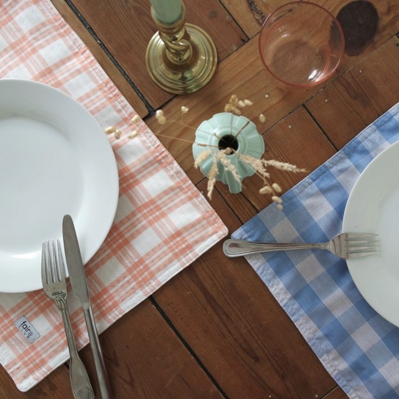 Handmade Gingham Placemats (Pack of 2)