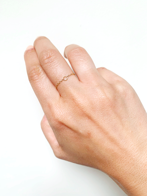 9ct Solid Gold Chain Ring