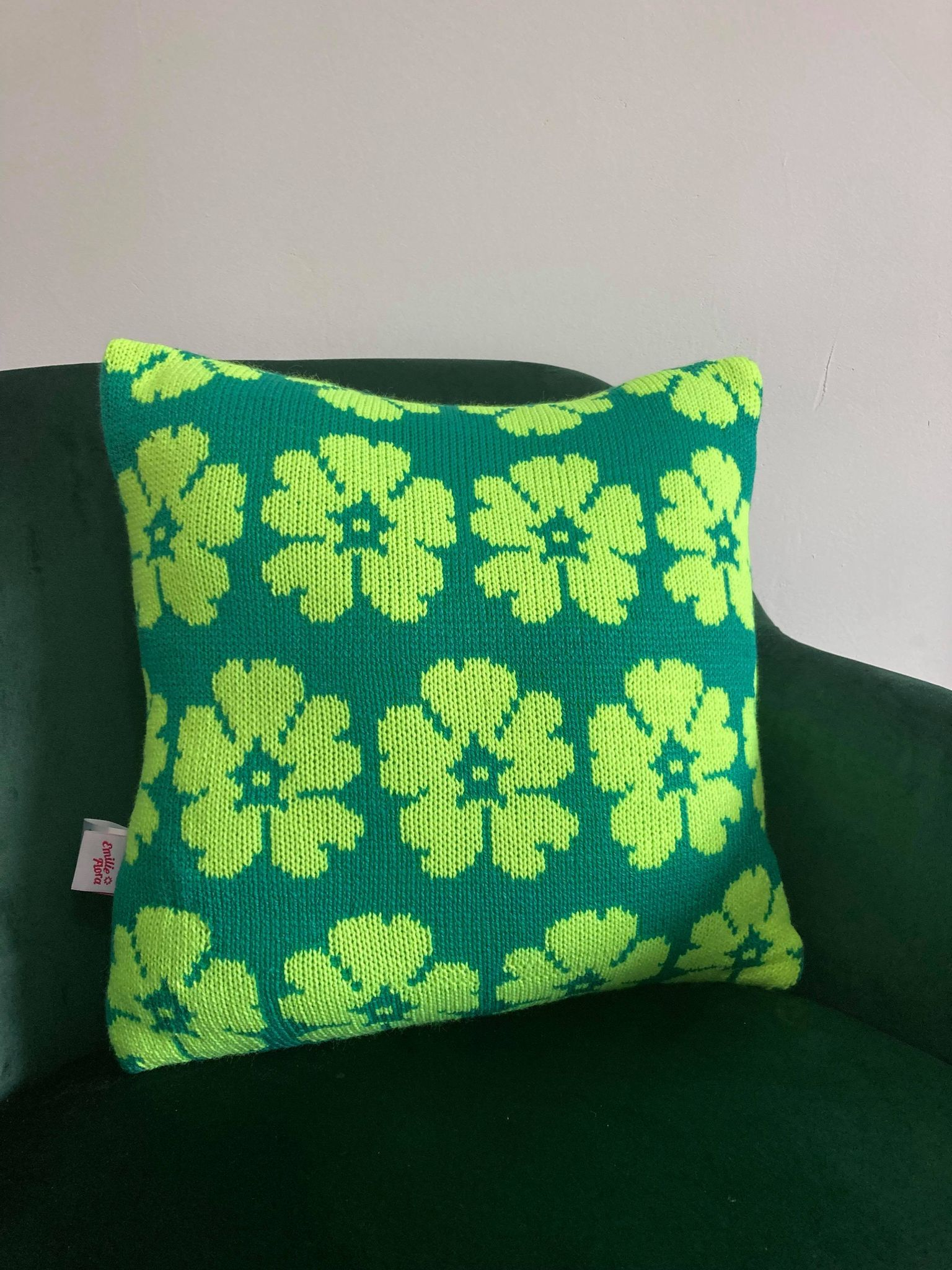 Periwinkle Cushion - Teal and Mint