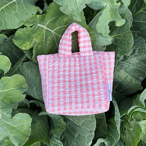 Baby Puffy Bag in Pink Gingham