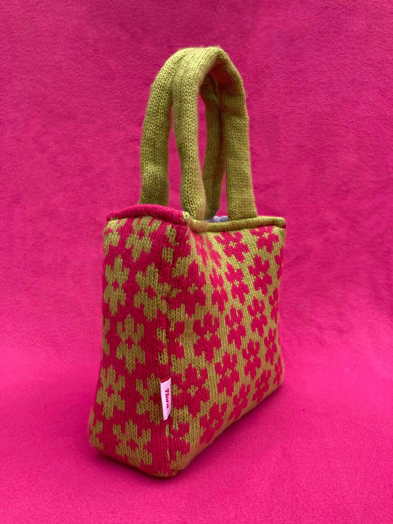 Mini Lilac Blossom Bag - Lime and Hot Pink