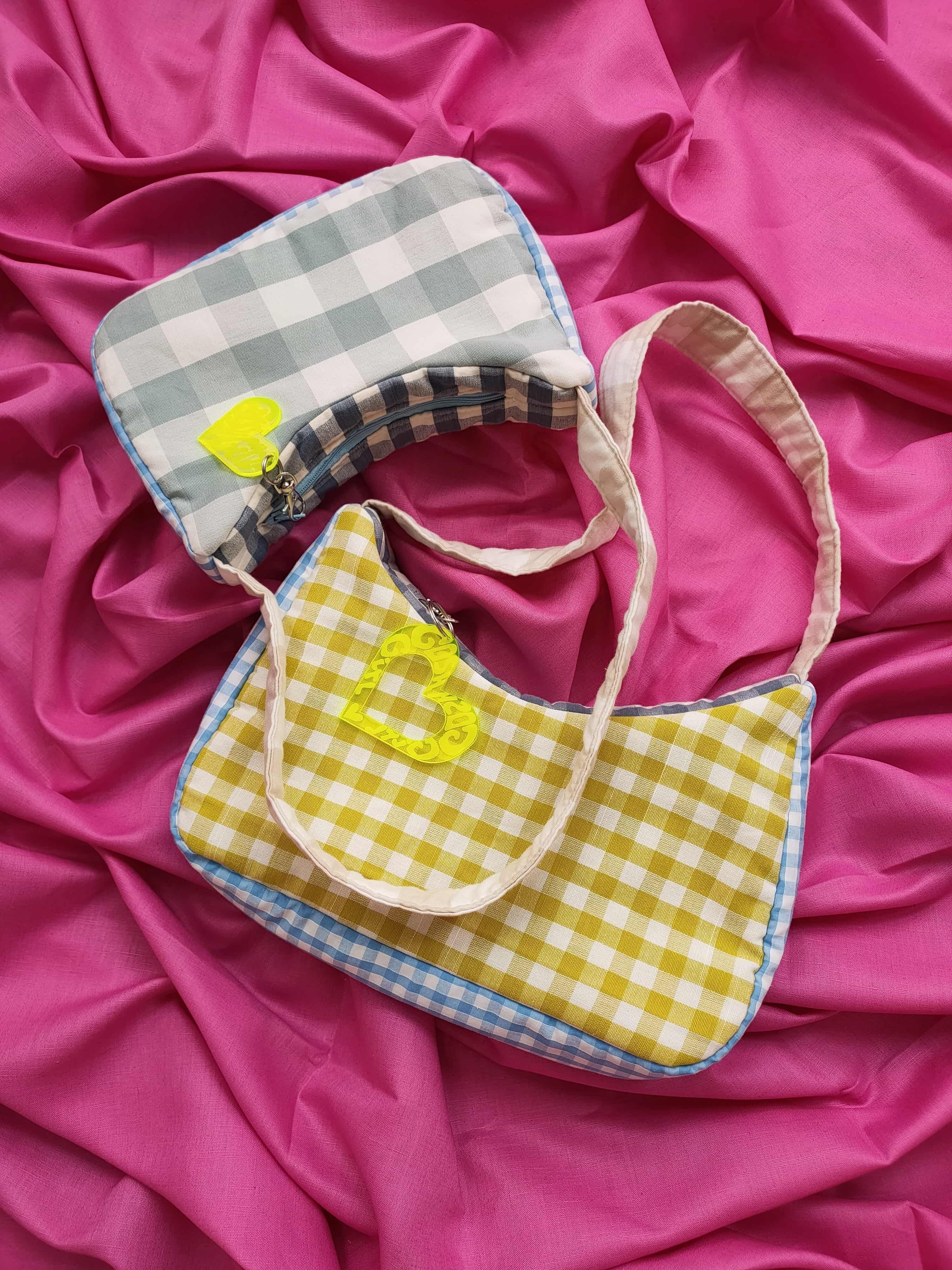 Jelly and Ice-Cream Gingham Bag