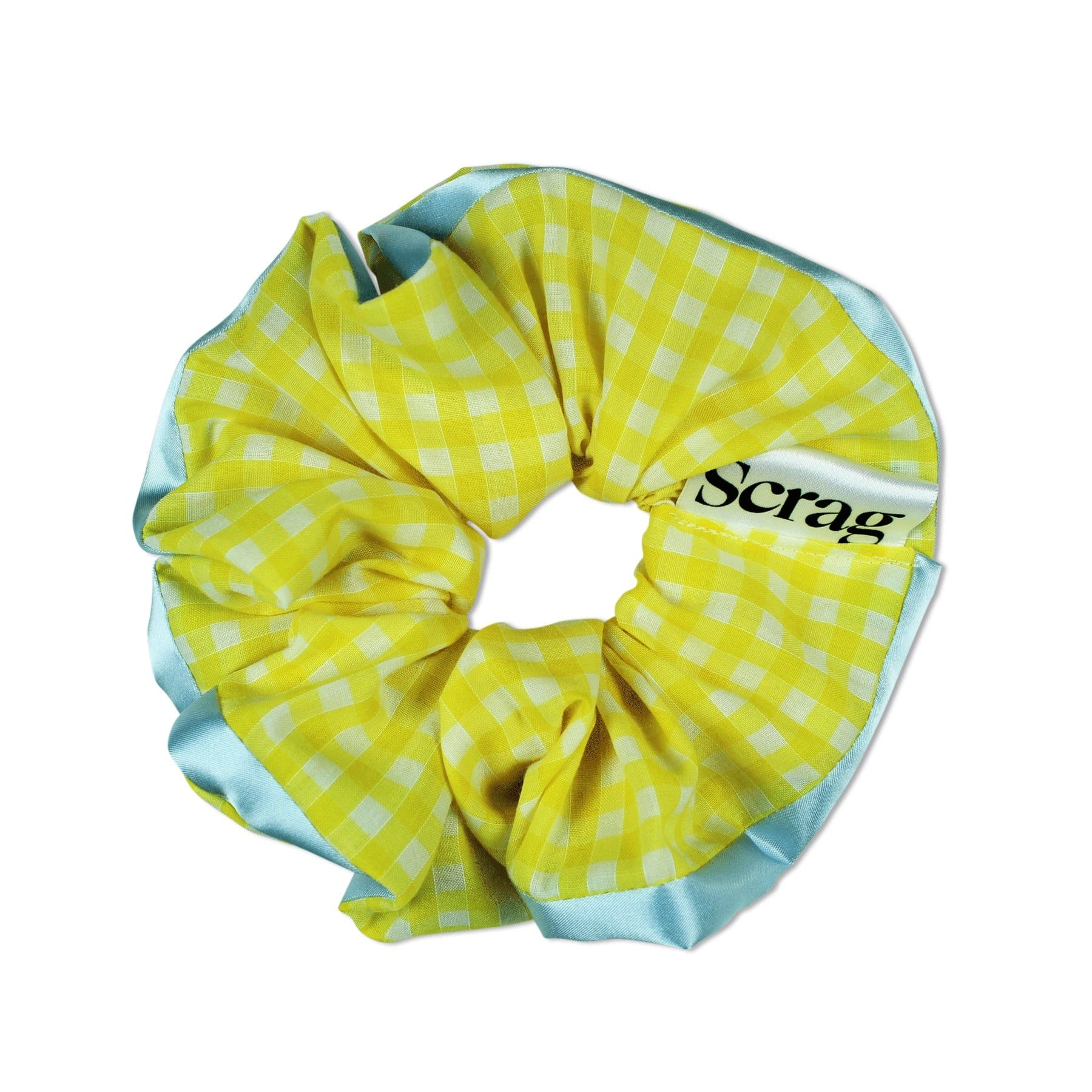 ELLIE XL - Yellow and Turquoise Scrunchie
