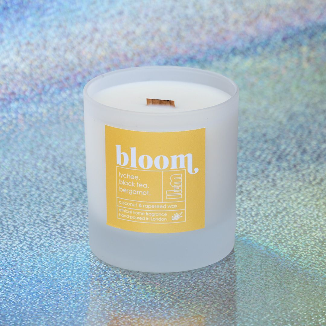 BLOOM Vegan Scented Candle - Coconut and Rapeseed Wax