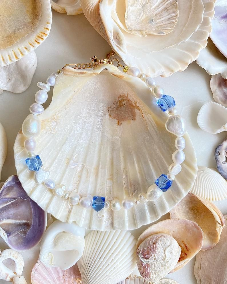 Crystals and Pearl Anklet