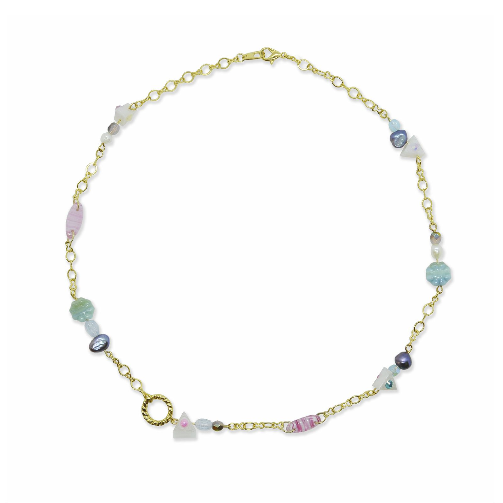 Chain blooming necklace