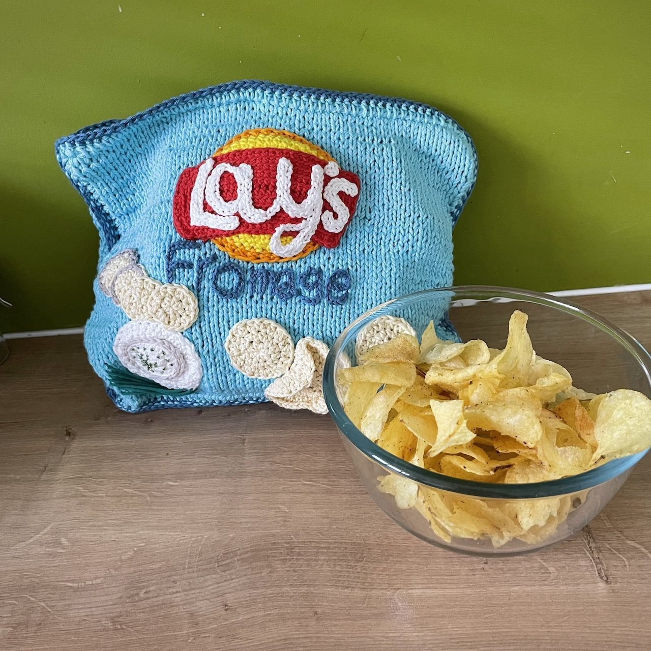 Lay's Fromage Knitted Shoulder Bag